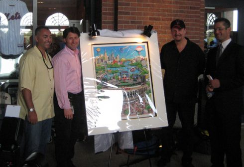 Unveiling the artwork for Citi Field 2009