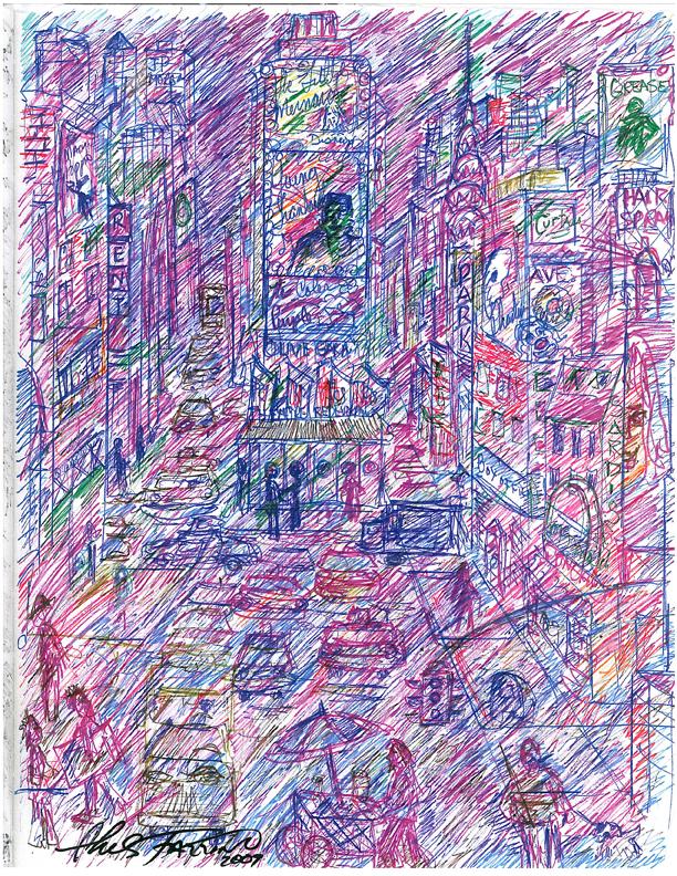charles-fazzino-pop-art-sketch-for-MDA