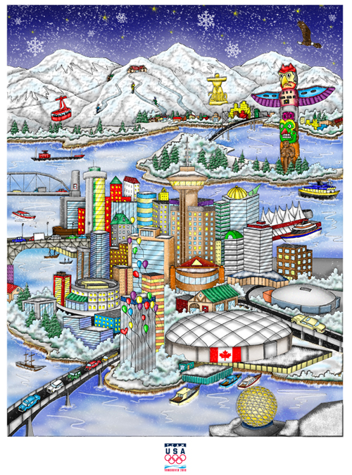 The Vancouver Olympic Games Poster by Fazzino