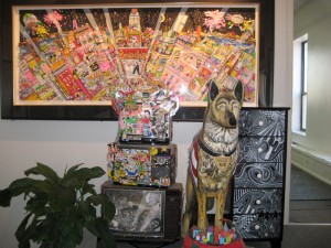 front-lobby-dog-sculptures-mural-LR