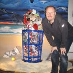 Charles-Fazzino-with-Trash-Can Sculpture-LR