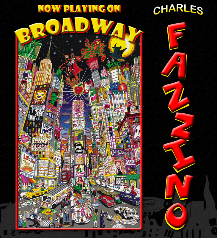 Fazzino-pop-art-book-Now-Playing-on-Broadway