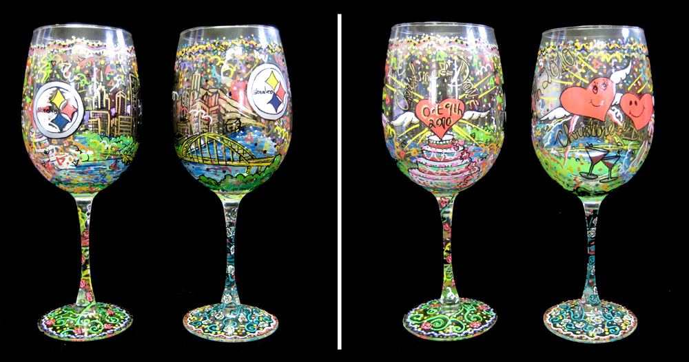 Fazzino-pop-art-gift-glasses-Pittsburgh-Steelers