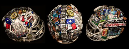 Charles Fazzino Superbowl Pop Art Helmet