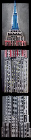 fazzino-U0255-original-mixed-media-painting-empire-state-building-triple