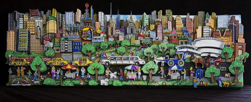fazzino-U0266-original-mixed-media-nyc-strolling-central-park
