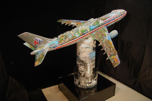 fazzino-corporate-art-commission-american-airlines-plane-JFK