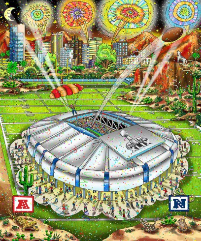 fazzino-football-art-super-bowl-xlix