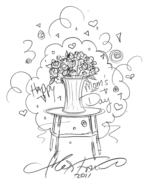 Charles-Fazzino-Happy-Mothers-Day