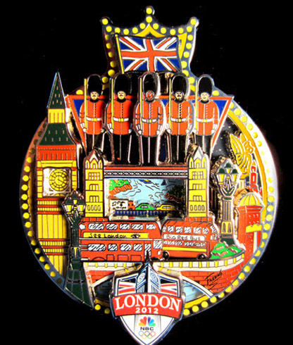 Unique Holiday Gifts by Charles Fazzino: 2012 London NBC Olympic Pin