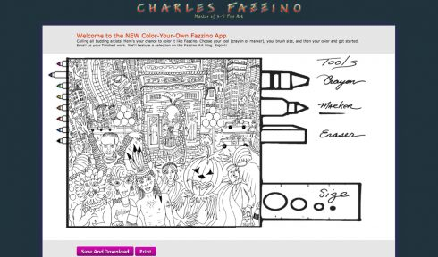Coloring Fun with Fazzino Printable