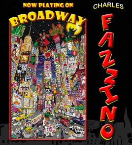 "The cover of Fazzino's pop art book, entitled ""Now Playing on Broadway"""