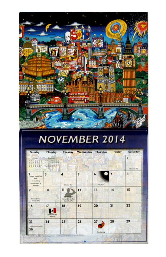 Pop Art Calendar : The fazzino pop art calendar is here