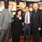 Guy Fessenden, Mary Grace Ferone, Mayor Noam Bramson, Charles Fazzino