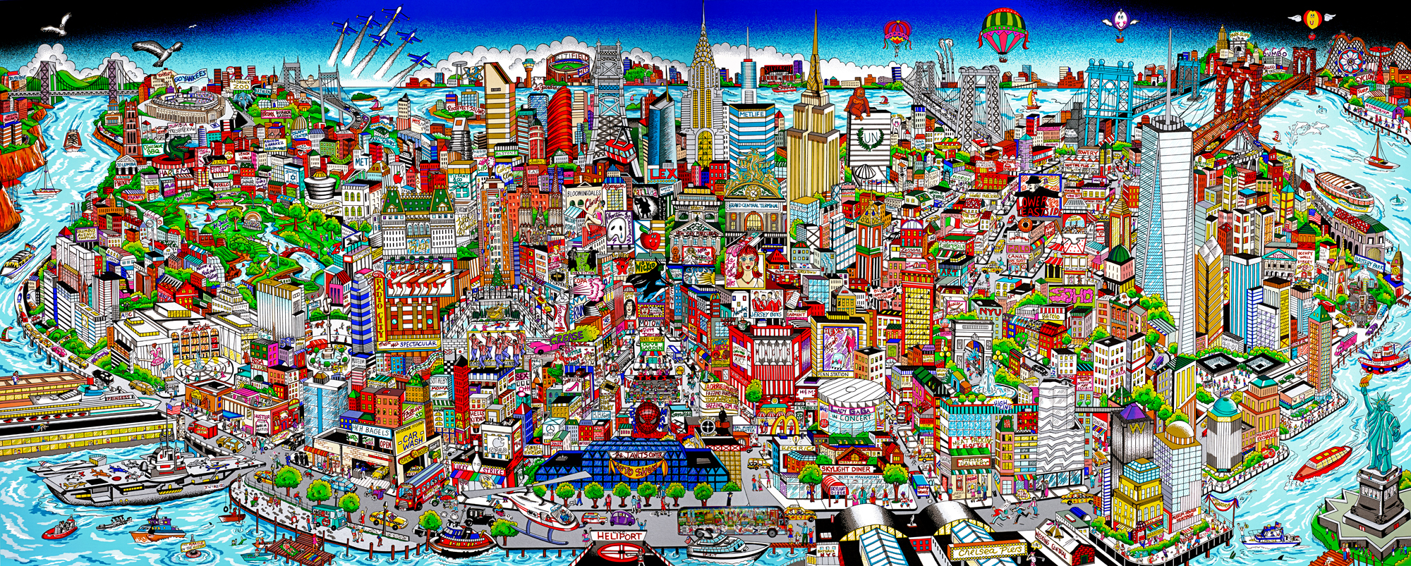 New release manhattanmural the island of hopes and for Mural 3d art