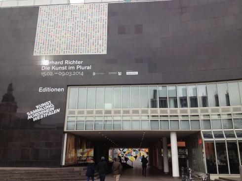 The exterior of Kunstsammlung Nordrhein Westfalen, an art museum in Germany