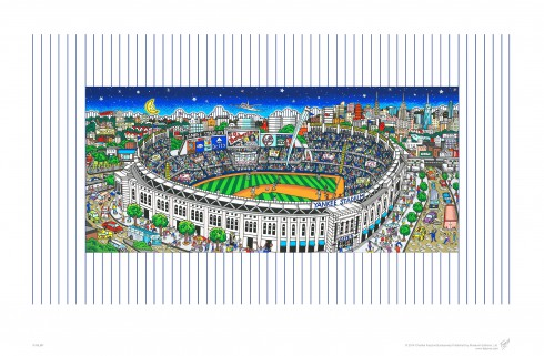 Image of the colorful limited edition pop art of New York Yankee Stadium