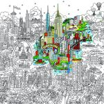 Small World Line Art LR-PARIS-HIGHLIGHT