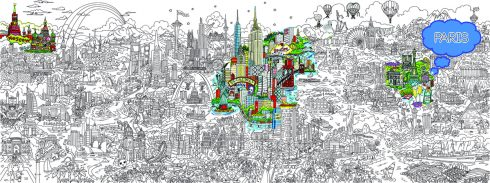 Small World Line Art LR-PARIS-HIGHLIGHT