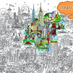 Small World Line Art LR-LONDON-HIGHLIGHT