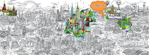 Small World Line Art LR-LONDON-HIGHLIGHT