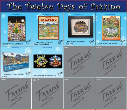twelve days of Fazzino-Day 6