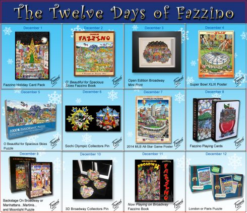 twelve days of Fazzino-Day 12