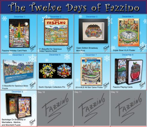 twelve days of Fazzino-Day 9