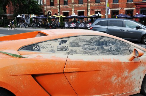 From Dirt To Art Check Out Scott Wades Dirty Car Art Fazzino - Scott wade makes wonderful art dusty car windows