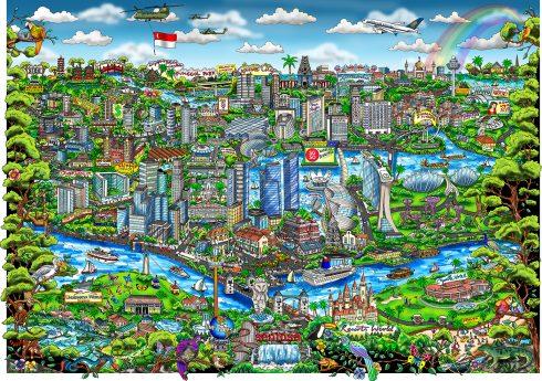 Celebrating the Enchanted Island of Singapore (Day Sky)