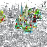 Small World Line Art LR-ISRAEL-HIGHLIGHT
