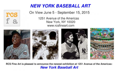 Postcard for the New York Baseball Art exhibit at RCS Fine Art