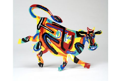 A colorful cow by David Gerstein
