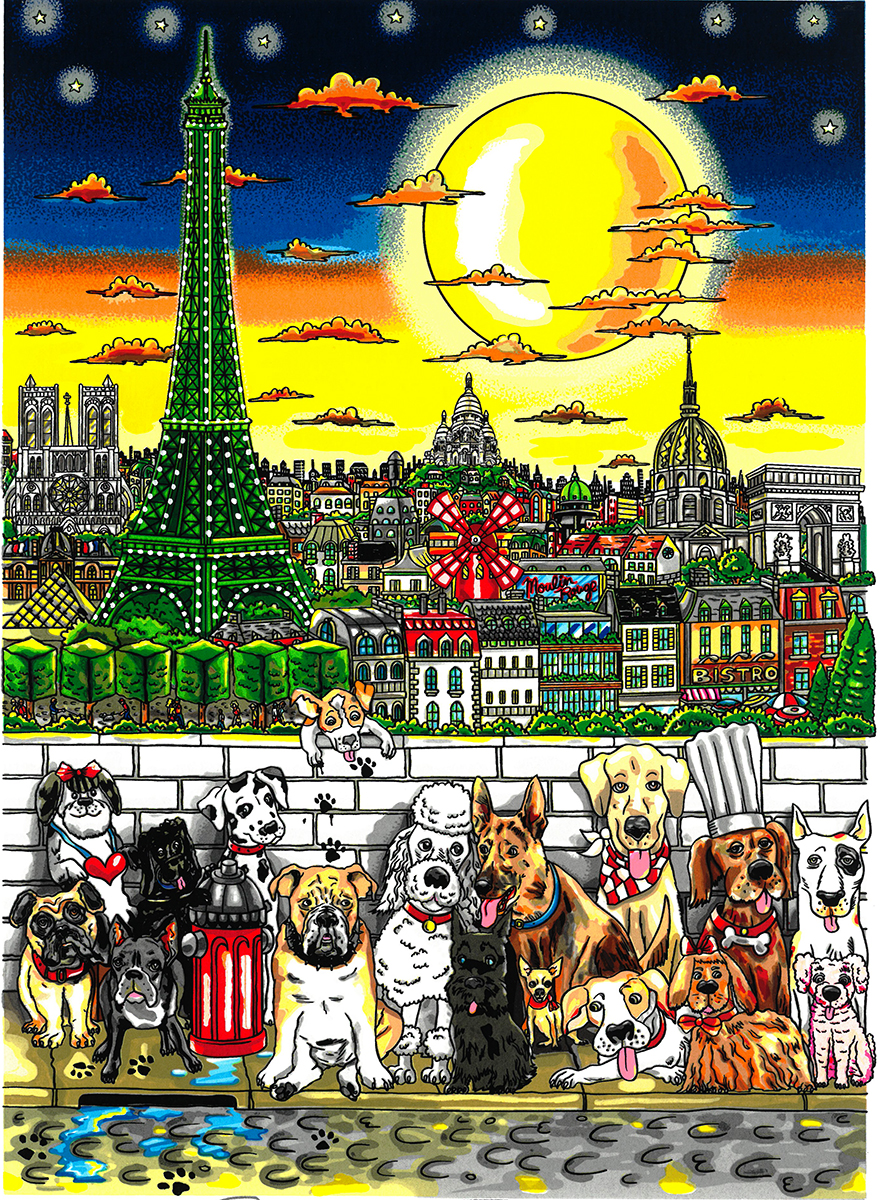 New Release Paws In Paris Fazzino