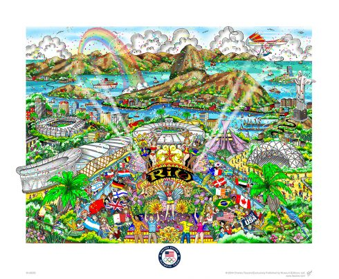 RIO OLYMPIC GAMES LIMITED EDITION FLAT FINE ART PRINT