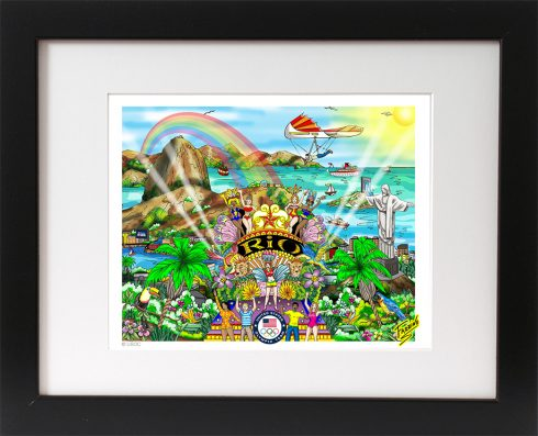 RIO OLYMPIC GAMES 3D FRAMED MINI PRINT ART
