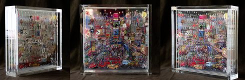 Charles Fazzino's free-standing, limited-edition, 3D plexiglass sculpture of New York.