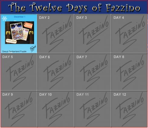 Twelve Days of Fazzino- December 1st - Greuzi Switzerland Puzzle