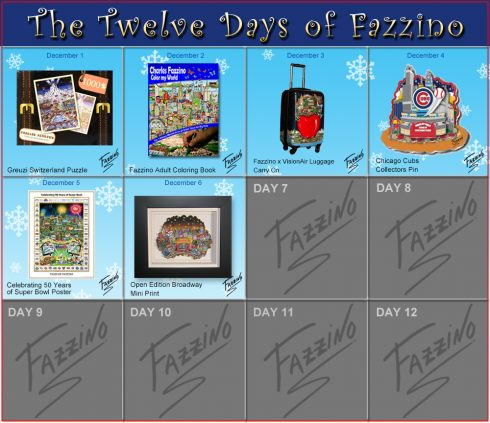 Day 6 of 12 days of Fazzino, Broadway Mini Print