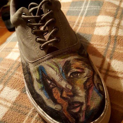 Fazzino featuring Kane Peterson's artwork - shoe