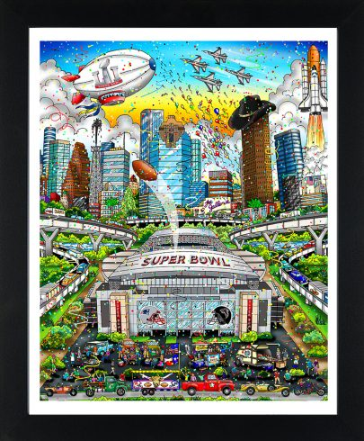 Charles Fazzino's Super Bowl L Pop Art Poster