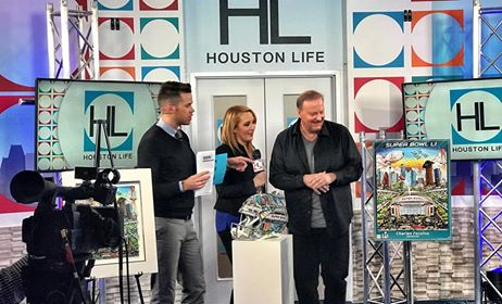 Charles Fazzino and Houston Life in Texas for Super Bowl LI