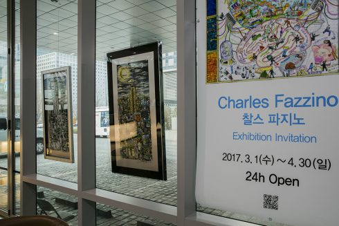 Charles Fazzino Pop Art Solo Exhibition at YTN in Korea