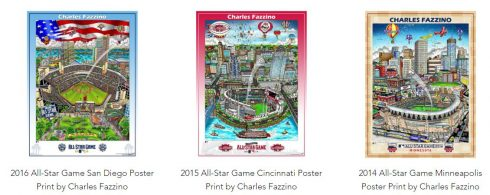 Charles Fazzino All Star Game Poster Line available at the Official Fazzino Gift Shop