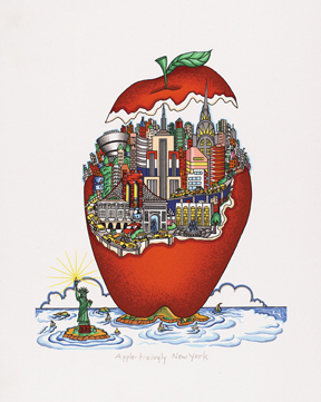 """Apple-tizingly New York"" by 3d pop artist Charles Fazzino"