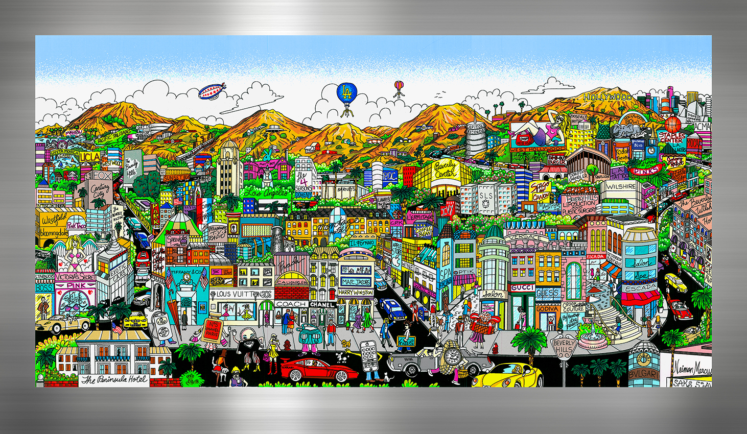 "Charles Fazzino 3D Pop Art piece ""You're Going to Hollywood"""