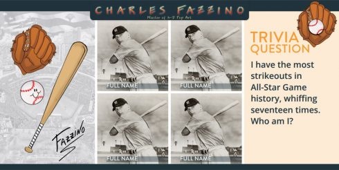 Charles Fazzino 2017 All Star baseball trivia challenge