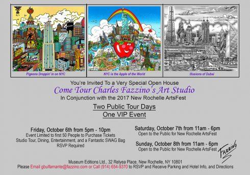 Charles Fazzino - New Rochelle Arts Fest Invitation