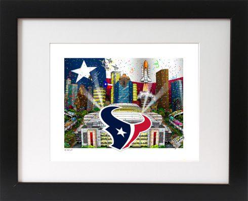 """Houston Texans"" Mini Prints by Charles Fazzino - Hurricane Harvey Relief Fund"