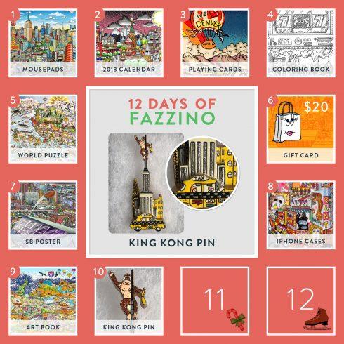 12 Days of Fazzino King Kong Pin giveaway